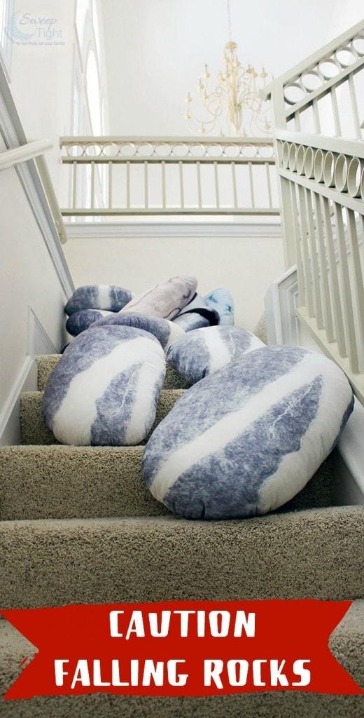 Caution falling rocks - Pebble Pillows