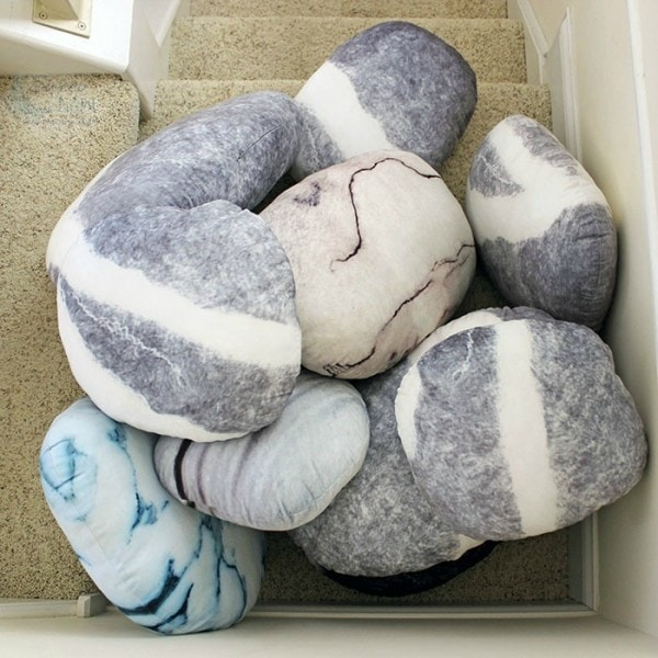 Pile of Pebble Pillows