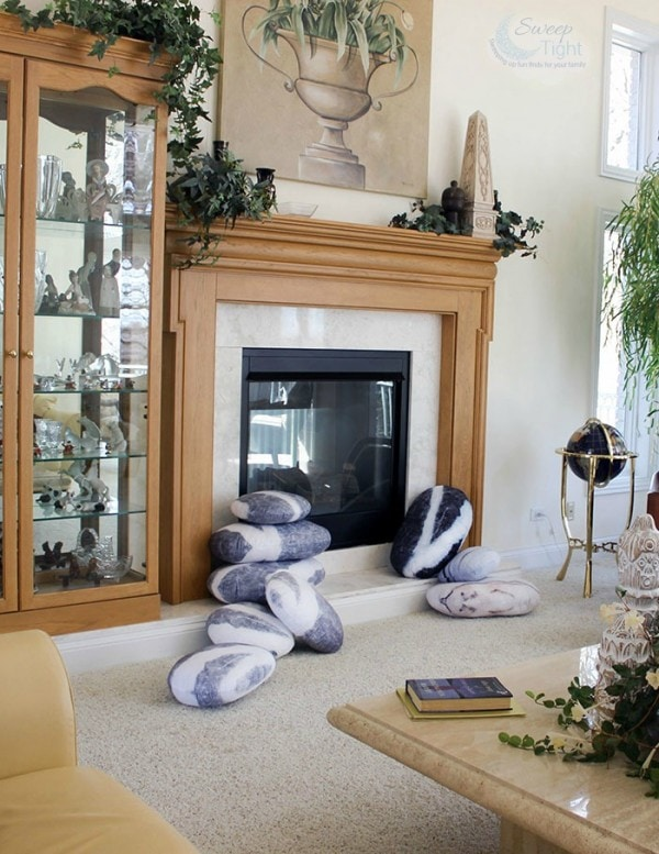 Pebble Pillows make pretty home decor