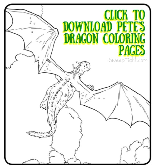 Pete's Dragon - Free Disney coloring pages - Full activity packet perfect for home schooling #PetesDragon