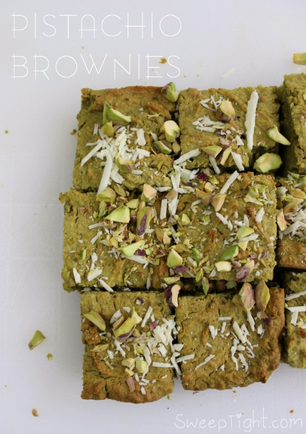 Healthy Dessert Recipe - Gluten Free Pistachio Brownies