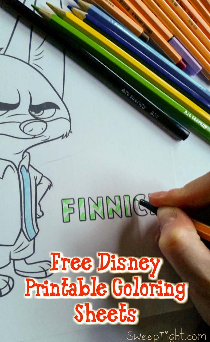 Free Disney Coloring Pages for 2016