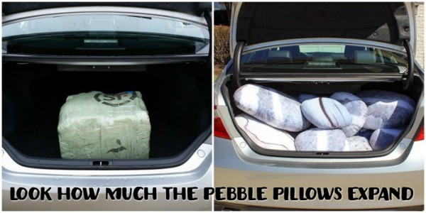Pebble Pillows packaging