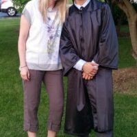 Adam's 8th Grade graduation. Planning college loans for parents helping their kids pay for school. #CollegeAveLoans #ad