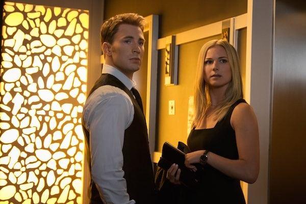 Chris Evans and Emily VanCamp in Captain America: Civil War