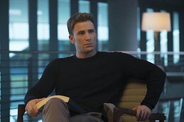 Smoldering Chris Evans in Captain America