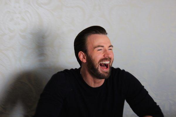 Chris Evans Laughing