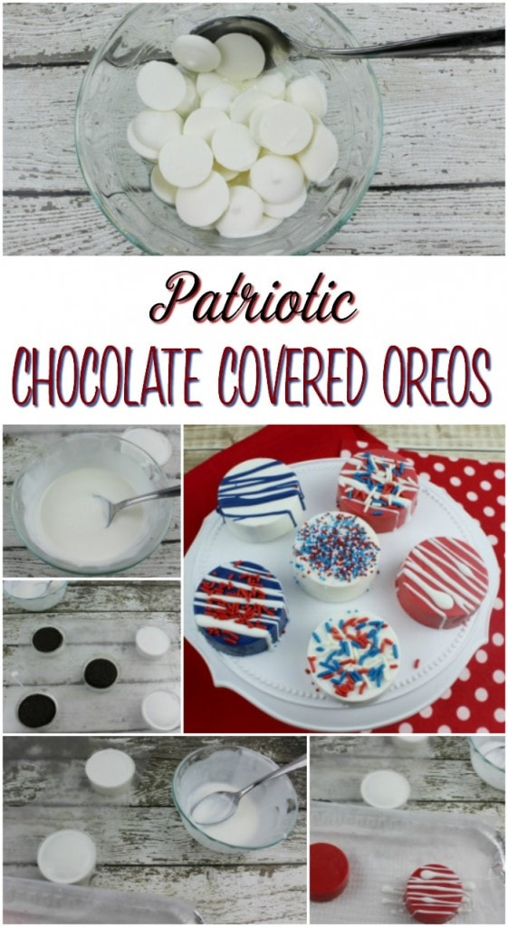 4th of July Chocolate Covered Oreos Recipe