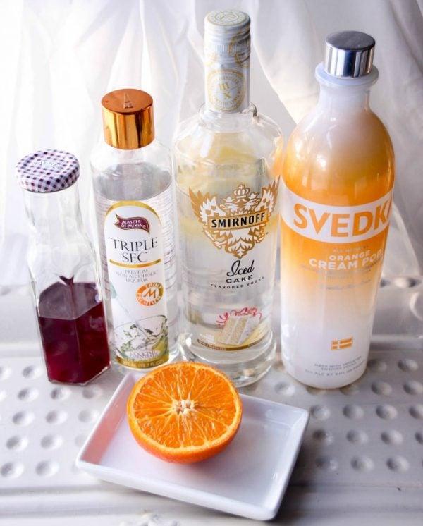 Raspberry and Orange Screwdriver Drink Recipe