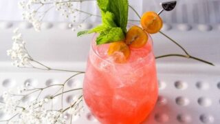 Raspberry and Orange Screwdriver Drink