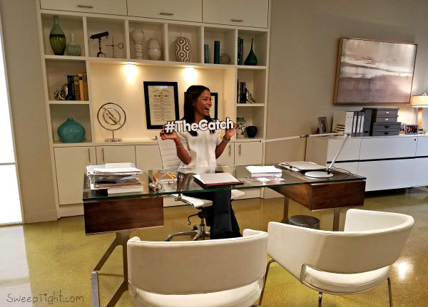 Rose Rollins on set of The Catch on ABC #ABCTVEvent #TheCatch