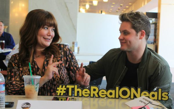 Mary Hollis Inboden and Mathew Shively - The Real O'Neals is seriously the best tv comedy series! #TheRealONeals #CaptainAmericaEvent