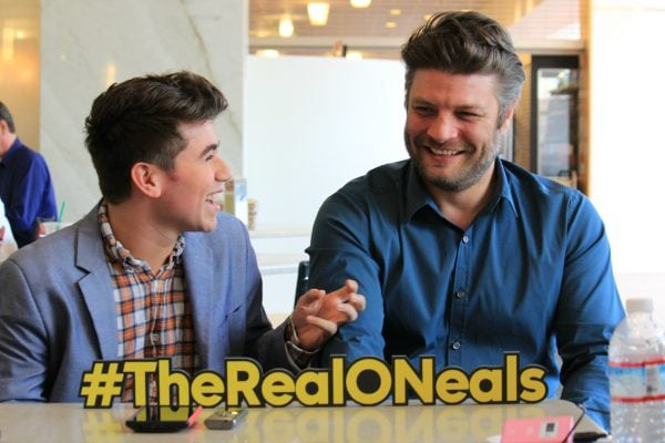 Noah Galvin and Jay R Ferguson - The Real O'Neals is seriously the best tv comedy series! #TheRealONeals #CaptainAmericaEvent