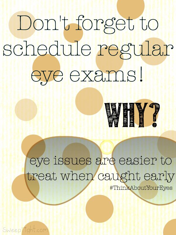Don't forget to Think About Your Eyes when addressing your overall health! #ThinkAboutYourEyes #IC #ad