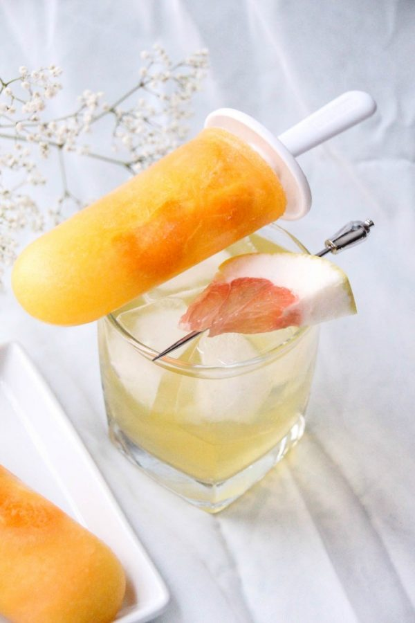 Orange Cream Pop Cocktail and Tangerine Popsicle
