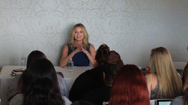 Emily VanCamp as Agent 13 Sharon Carter - Exclusive blogger interview #CaptainAmericaEvent