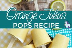 Homemade orang Julius pops on a table
