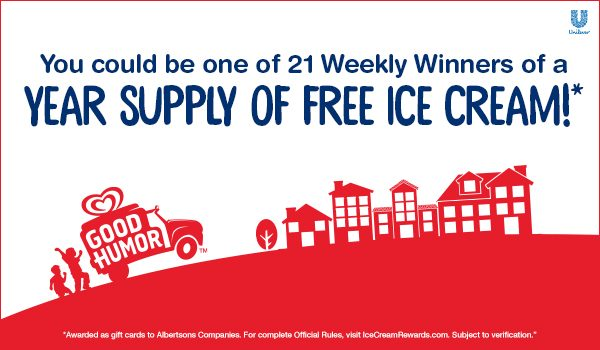 Ice Cream Sweepstakes