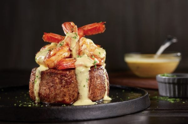 Béarnaise Jumbo Shrimp Topped Filet
