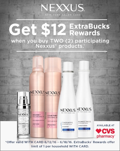 Nexxus savings at CVS #ohyeahhealthyhair