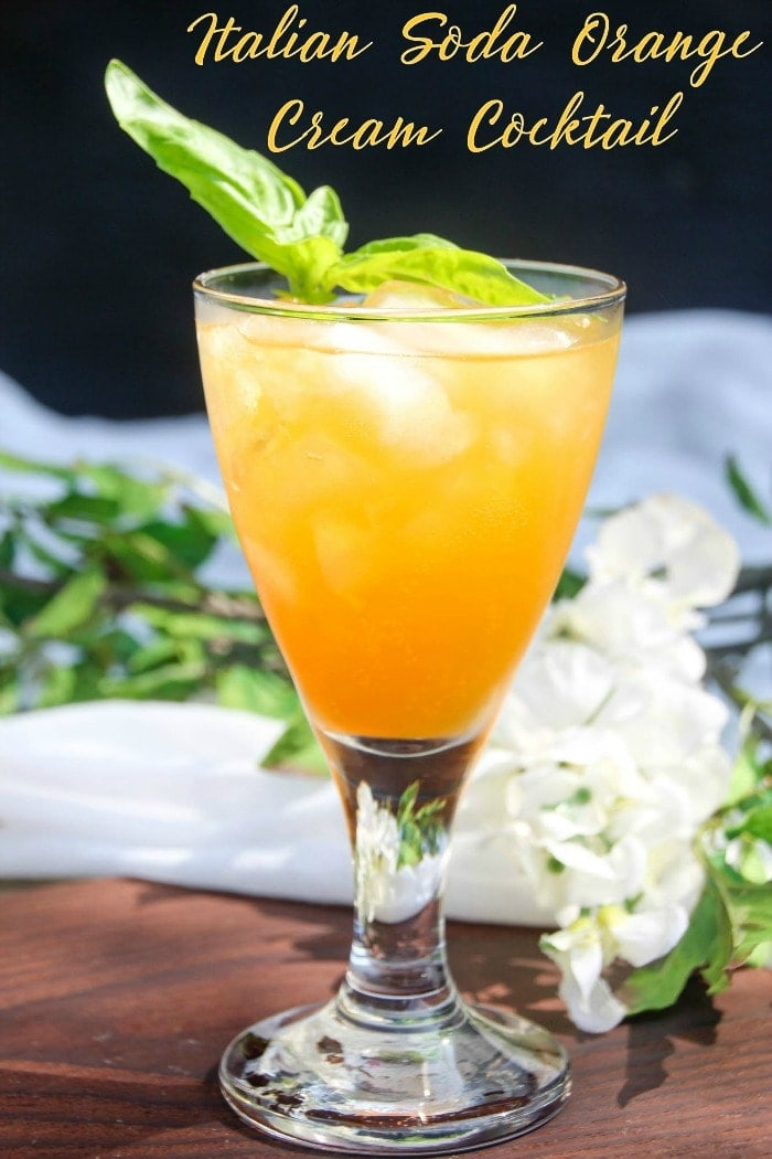 Orange cream cocktail