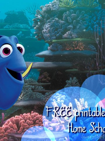Free Printable Finding Dory Home Schooling Supplies