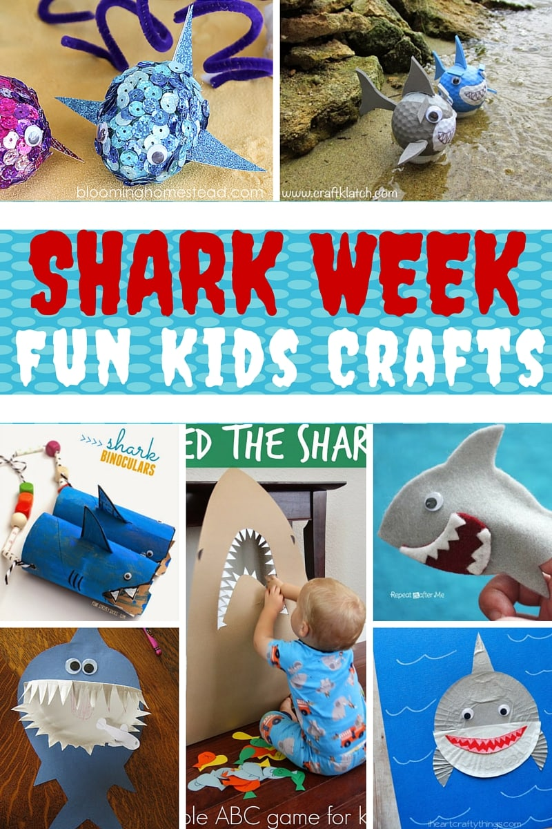 15 Shark Week Crafts for Kids