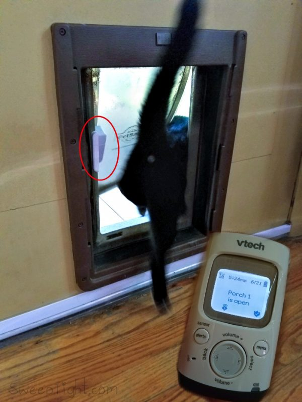 VTech Digital Audio Baby Monitor Spies on the Cat @VTechUSA #GrowWithVTech ad