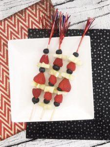 Fruit skewers - firework fruit kabobs