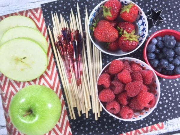Fruit on a stick fruit kabobs