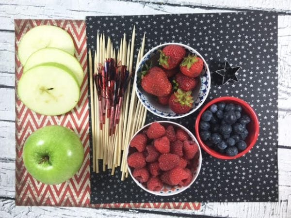 Party Fruit Kabob Recipe - Firecracker Kabobs