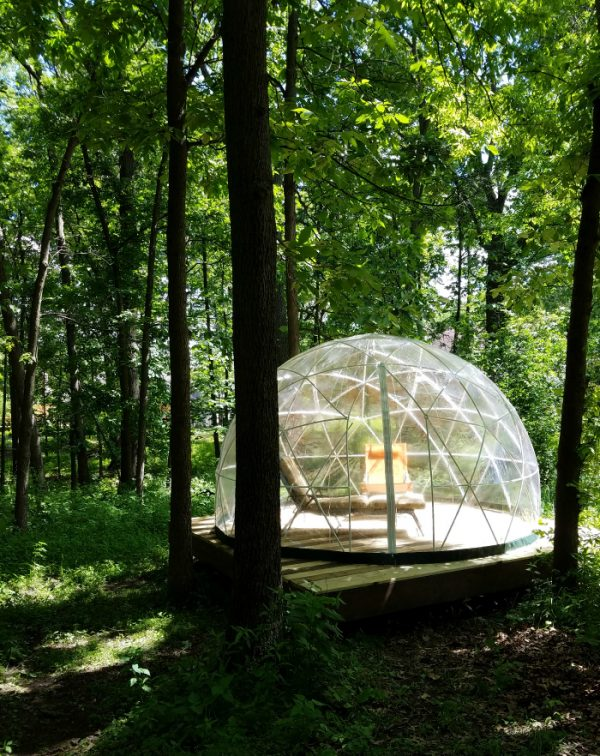 garden igloo enjoy the outdoors from inside a bubble. Black Bedroom Furniture Sets. Home Design Ideas