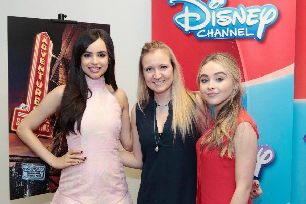 Sofia Carson and Sabrina Carpenter with Shelley from SweepTight.com - Adventures In Babysitting 2016 #AdventuresInBabysitting