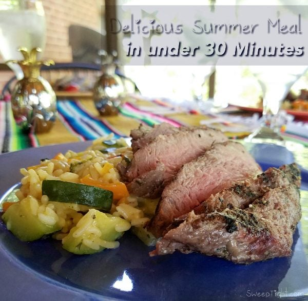 Quick Summer Meal Recipe - done in under 30 minutes! This is a new family favorite.