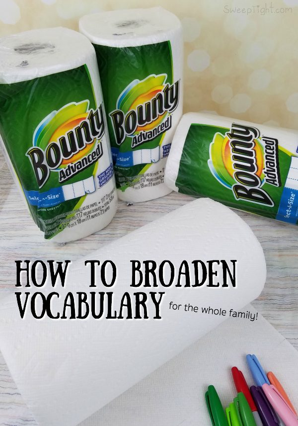 Improve vocabulary with the whole family just in time for the back to school season! #PGDetailsMatter #IC #ad