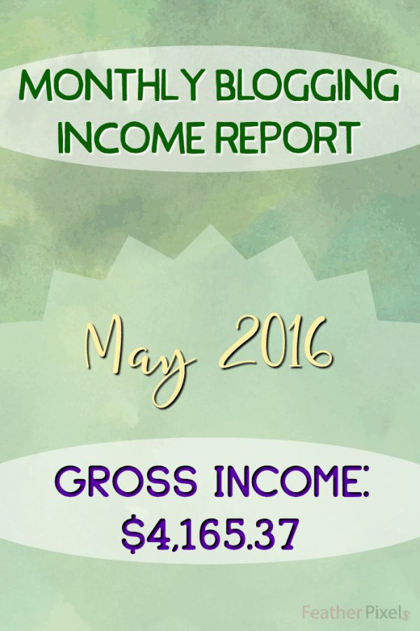 Monthly Blogging Income Report - May 2016