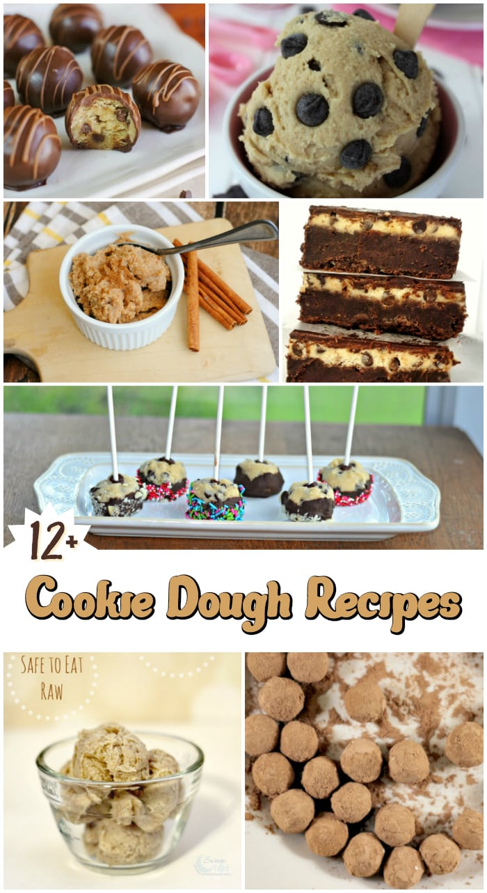 12 Edible Cookie Dough Recipes Roundup