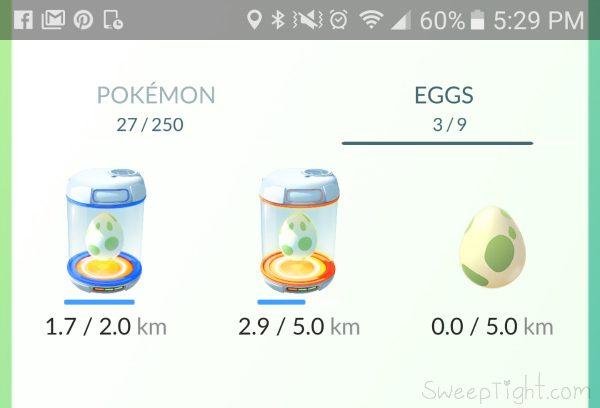 Pokemon Eggs in incubators.