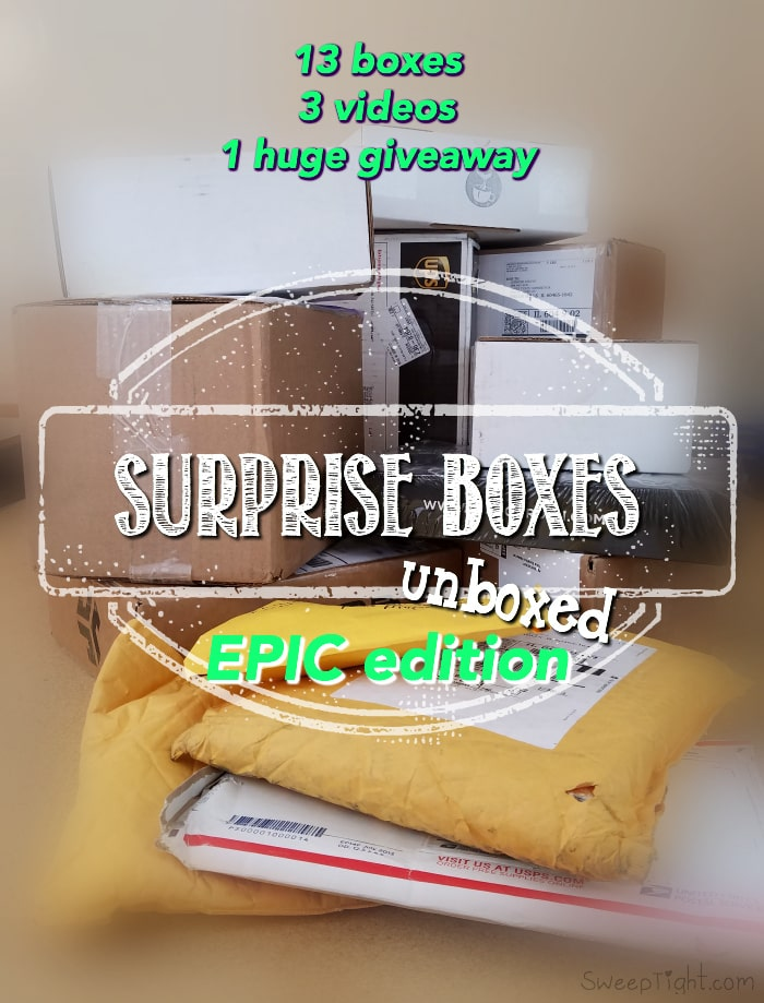 Unboxing Surprise Boxes and Huge Giveaway