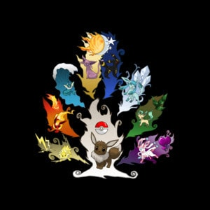 Eeveelution Tree shirt