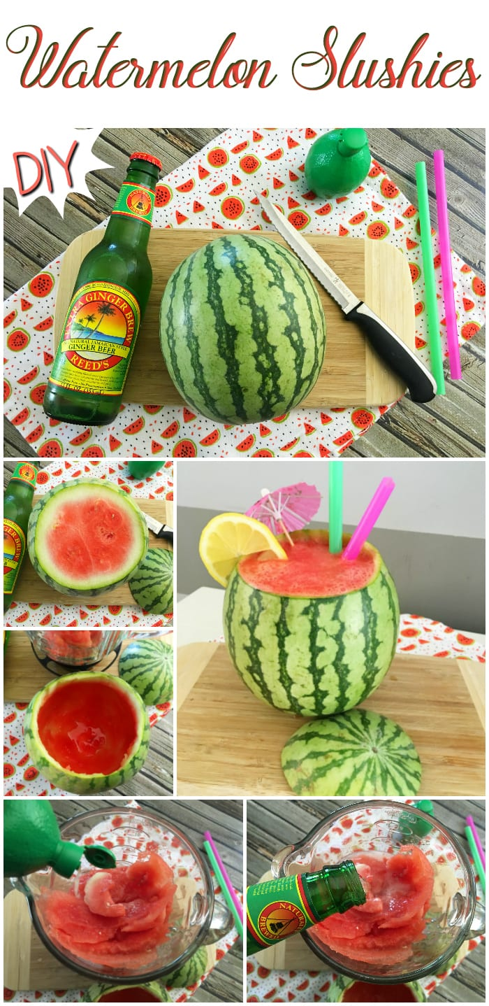 DIY Fresh Watermelon Cocktails - Easy Fruit Slushies