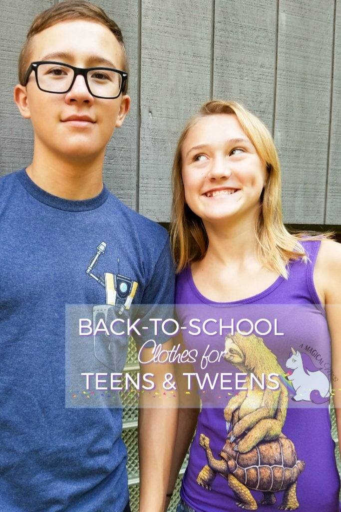 Back to school clothes for teens and tweens that they'll actually LOVE! Claptrap shirt and Speed is Relative sloth shirt from Design by Humans. ad