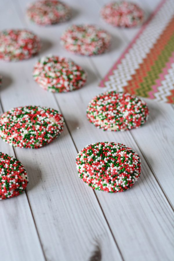 Shortbread Cookies with Sprinkles