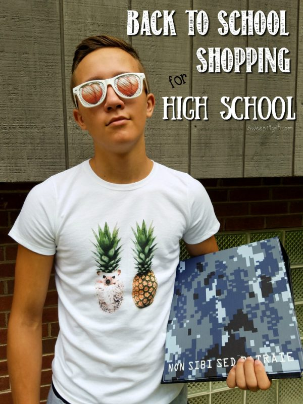 Back to School shopping online for high school can be super fun!
