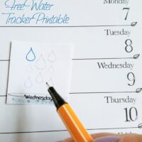 Track water intake with this free printable