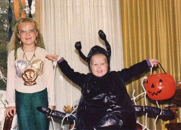 Me and Shelley on Halloween many moons ago