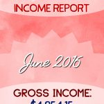 Monthly Blogging Income Report – June 2016