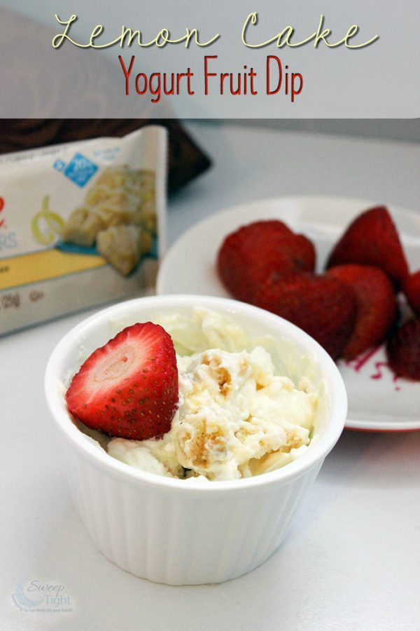Lemon Cake Yogurt Fruit Dip Recipe for One
