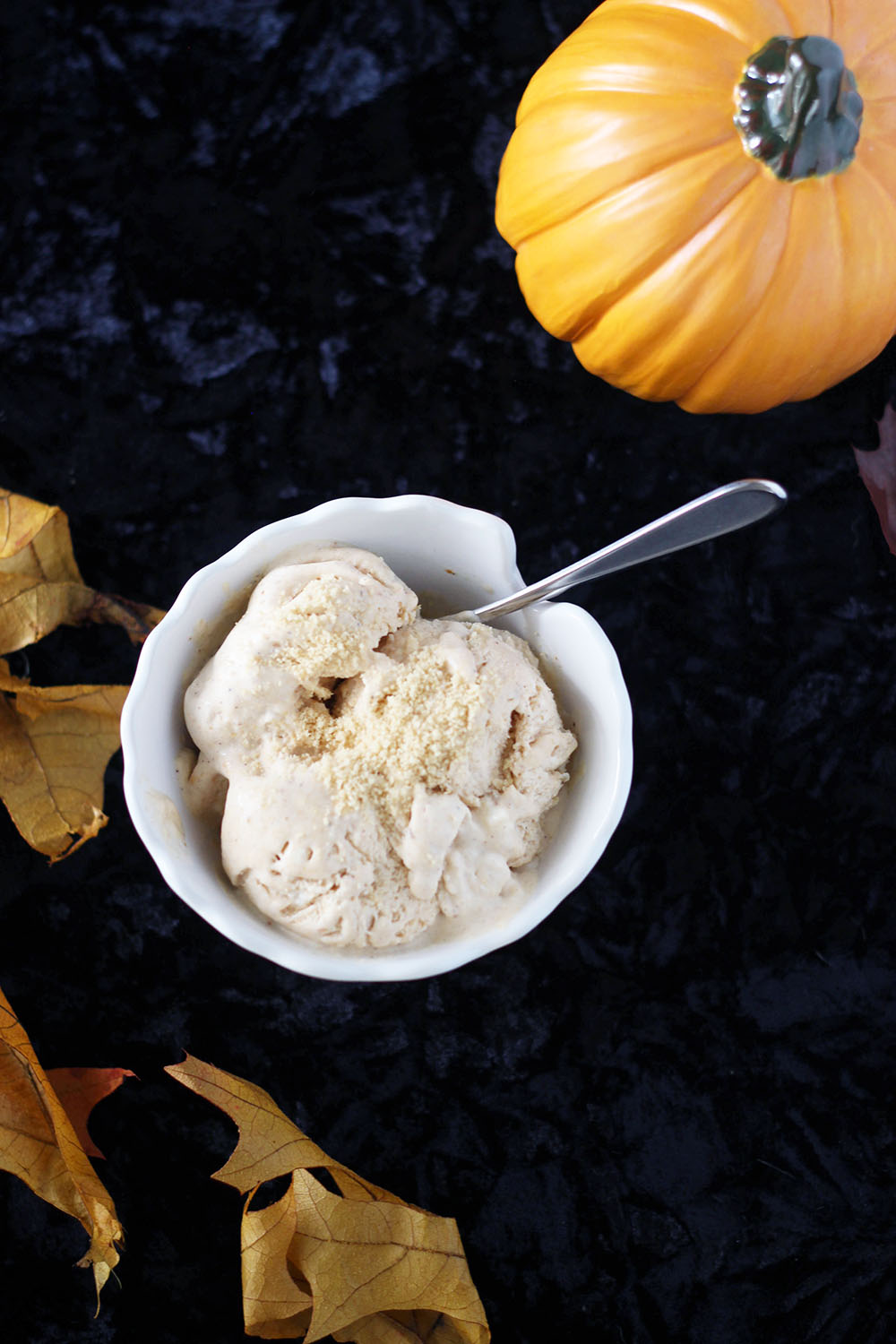 DIY pumpkin ice cream without an ice cream maker. Make homemade pumpkin ice cream with your choice of mix-ins.