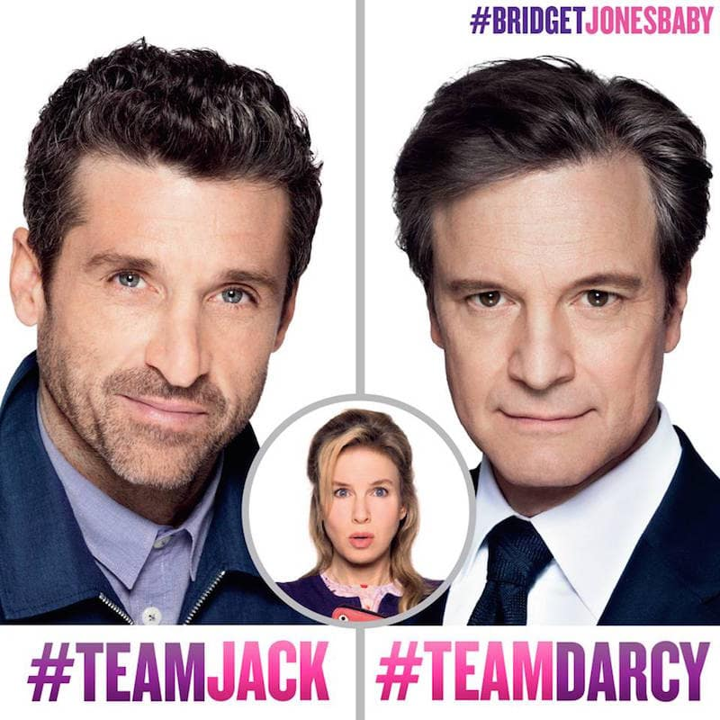 Bridget Jones's Baby Movie -- who's team are you on? I'm totally #TeamJack #BridgetJonesBaby